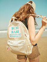 Entre Reves Casual Style A4 Plain Backpacks