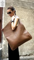 Aakasha A4 Plain Leather Handmade Handbags