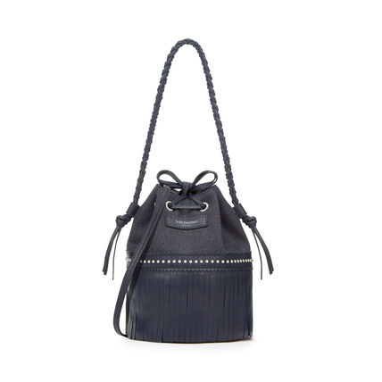 Casual Style Calfskin Studded 2WAY Plain Purses Fringes
