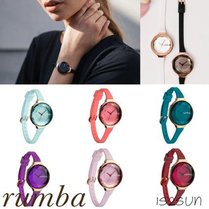 Casual Style Round Jewelry Watches Analog Watches