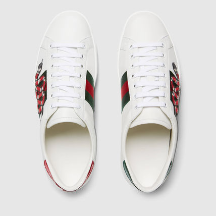 358dac5fbec ... GUCCI Sneakers Stripes Blended Fabrics Street Style Other Animal  Patterns 4 ...