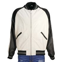 REPRESENT Short Street Style Plain Leather Varsity Jackets