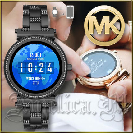 dc286b49e6f5 ... Michael Kors Digital Round Stainless Office Style Digital Watches ...