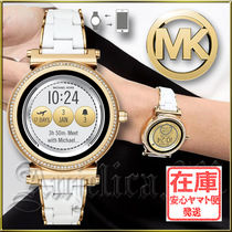 Michael Kors Round Stainless Digital Watches