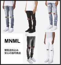 MNML Street Style Plain Skinny Fit Pants