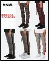 MNML Tapered Pants Stripes Other Check Patterns Unisex