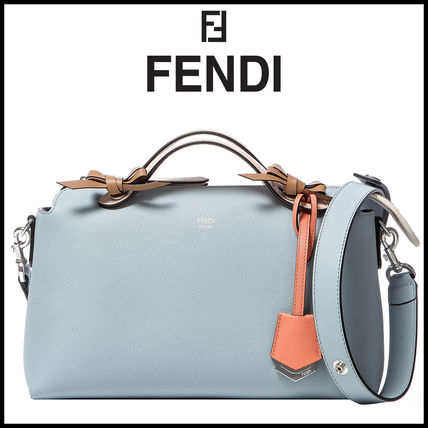 72e229e59718 FENDI BY THE WAY 2018 SS 2WAY Plain Leather Elegant Style Shoulder ...