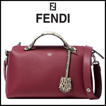 FENDI BY THE WAY 2WAY Leather Elegant Style Shoulder Bags
