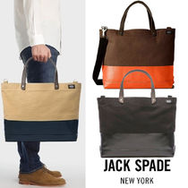 JACK SPADE Canvas 2WAY Bi-color Totes