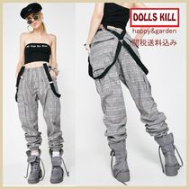DOLLS KILL Other Check Patterns Casual Style Long Oversized Shorts