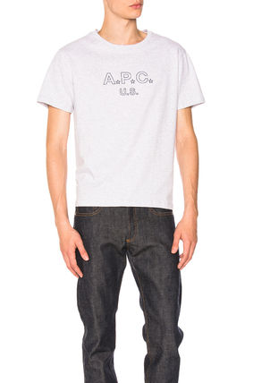 A.P.C. More T-Shirts Star Unisex Cotton Short Sleeves Designers T-Shirts