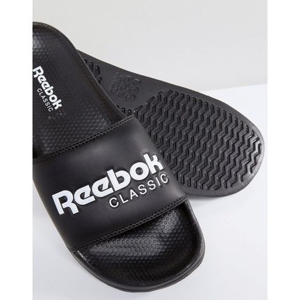 15510e70a ... Reebok Flat Open Toe Casual Style Unisex Plain Shower Shoes Flat Sandals  4 ...