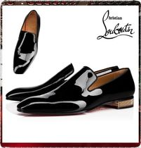 Christian Louboutin Plain Toe Moccasin Plain Leather Loafers & Slip-ons