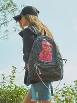 Entre Reves Flower Patterns Casual Style A4 Backpacks