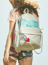 Entre Reves Casual Style Blended Fabrics Street Style A4 Backpacks