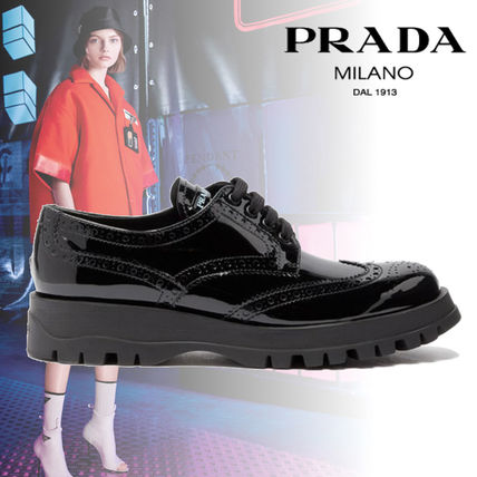956a6b1cdee ... new zealand prada loafer plain leather loafer pumps mules 20a03 3f310