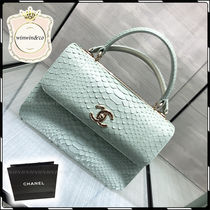 CHANEL Leather Elegant Style Handbags