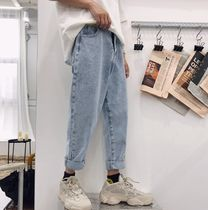 Tapered Pants Street Style Cotton Oversized Jeans & Denim