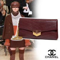 CHANEL Calfskin Vanity Bags Chain Plain Home Party Ideas