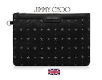 Jimmy Choo Calfskin Studded Bag in Bag A4 Plain Clutches