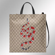 GUCCI Monogram Canvas Blended Fabrics A4 2WAY