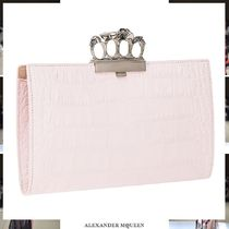 alexander mcqueen Other Animal Patterns Leather With Jewels Clutches