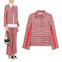 MARNI Other Check Patterns Tweed Street Style Jackets