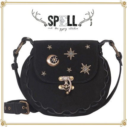 Star Leather Elegant Style Shoulder Bags