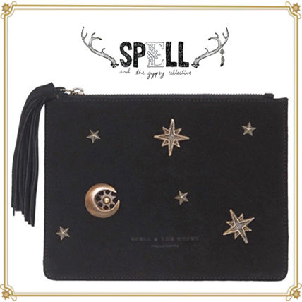 Star Leather Elegant Style Clutches