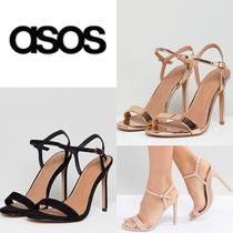 ASOS Open Toe Suede Pin Heels Party Style Heeled Sandals
