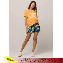 adidas Printed Pants Short Tropical Patterns Casual Style