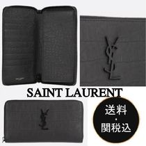Saint Laurent Lambskin Long Wallets