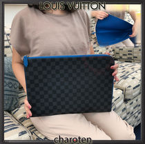 Louis Vuitton MONOGRAM Other Check Patterns Canvas Blended Fabrics A4 2WAY Bi-color