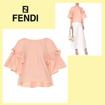 FENDI Cotton Medium Puff Sleeves Shirts & Blouses