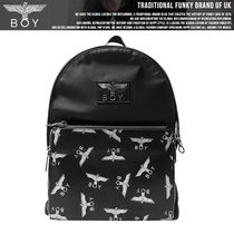 BOY LONDON Casual Style Nylon Studded Street Style Backpacks
