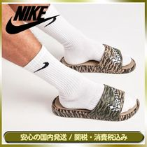 Nike BENASSI Camouflage Street Style Bi-color Shower Shoes Shower Sandals