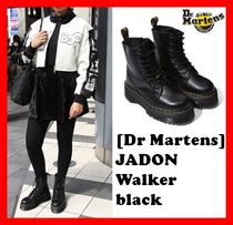 Dr Martens Platform Street Style Leather Mid Heel Boots