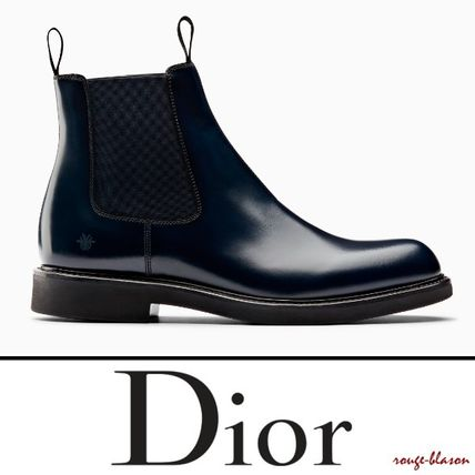 Dior Homme 2018 19aw Plain Toe Plain Leather Boots 3bo206yda H560