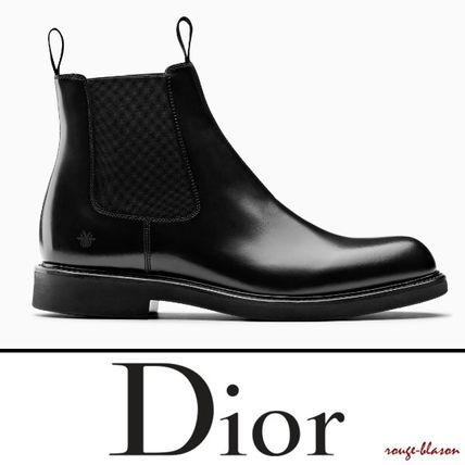 Dior Homme 2018 19aw Plain Toe Plain Leather Boots 3bo206yda H960