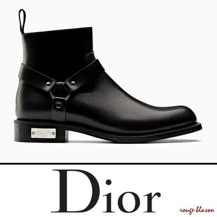 Dior Homme 2018 19aw Plain Toe Plain Leather Boots 3bo205xhu H900