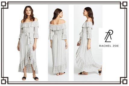 Stripes Casual Style Maxi Medium Dresses