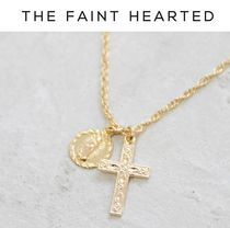 THE FAINT HEARTED Cross 14K Gold Fine
