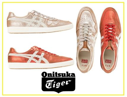 best service 4d205 80876 Onitsuka Tiger 2018-19AW Street Style Plain Leather Sneakers (D8E4L.2301,  D8E4L.9301)
