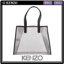 KENZO Casual Style A4 Crystal Clear Bags PVC Clothing Totes