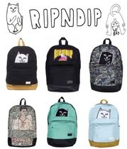 RIPNDIP Camouflage Casual Style Unisex Street Style Backpacks