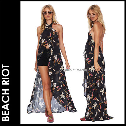Flower Patterns Halter Beach Cover-Ups