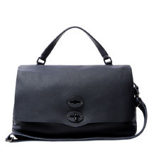 ZANELLATO 2WAY Plain Leather Office Style Shoulder Bags