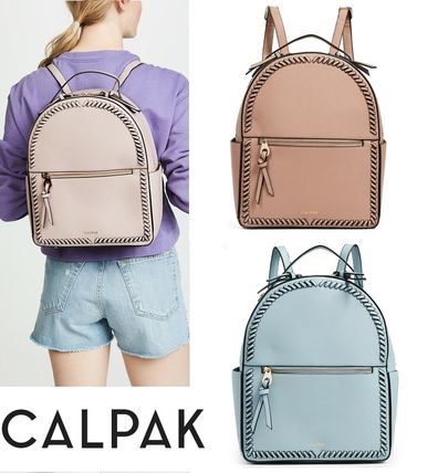 Casual Style Faux Fur A4 2WAY Plain Backpacks