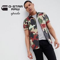 G-Star Camouflage Street Style Cotton Short Sleeves Shirts