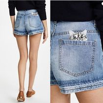 PAUL & JOE sister Short Casual Style Denim Street Style Plain